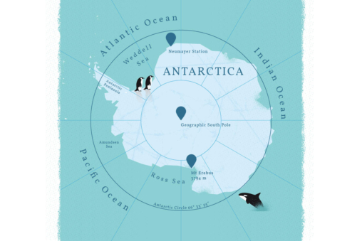 Antarctica, the Earth's southernmost continent